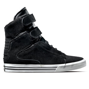 Supra Society black suede leather