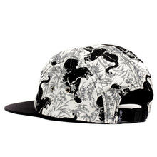 Load image into Gallery viewer, RIPNDIP Sex Panther black/white Camp 5 Panel Hat