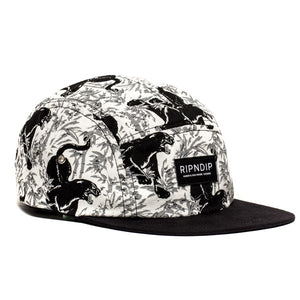 RIPNDIP Sex Panther black/white Camp 5 Panel Hat