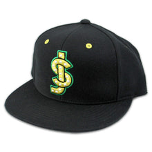 Load image into Gallery viewer, Shake Junt SJ Logo black snapback cap