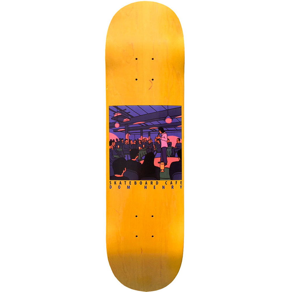 Skateboard Cafe Dom Henry Stand Up deck yellow stain 8