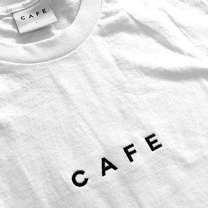 Skateboard Cafe Embroidered Tee white