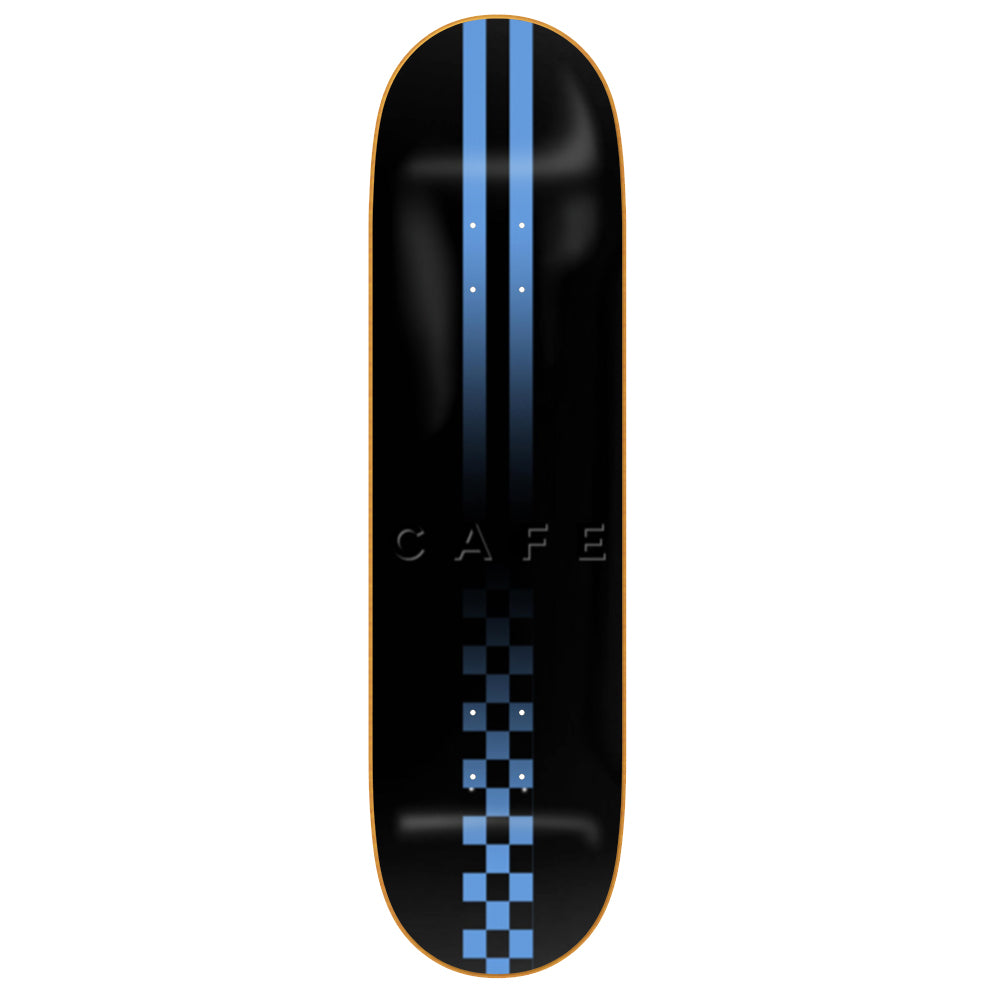Skateboard Cafe Fast Check Embossed black deck 8.7