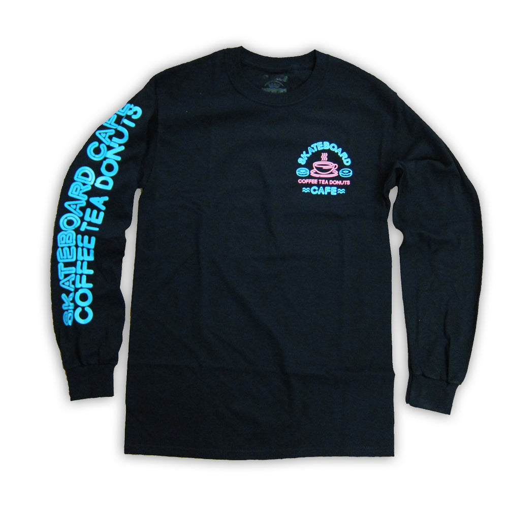 Skateboard Cafe Neon black longsleeve T shirt