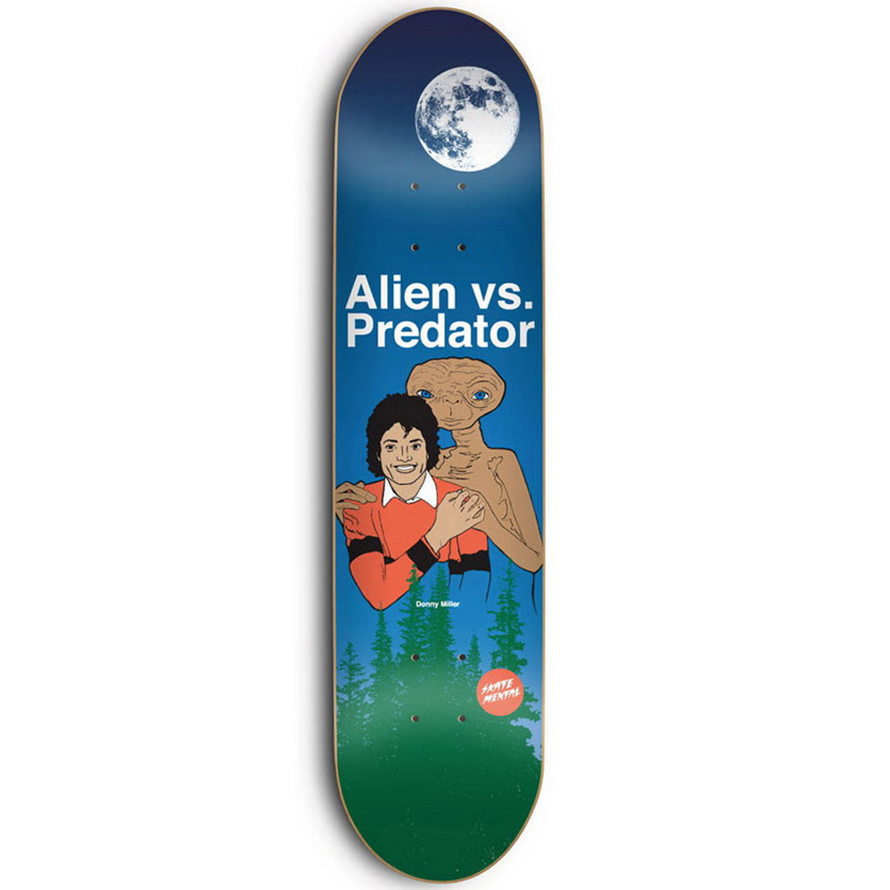 Skate Mental Alien Vs Predator Night deck 8.25