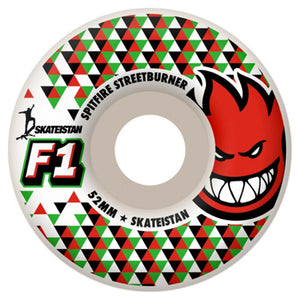 Spitfire F1 Streetburners Skateistan white 52mm wheels