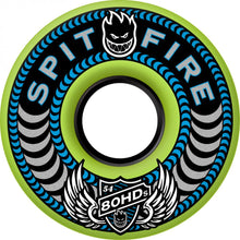 Load image into Gallery viewer, Spitfire 80HD Cruiser Meltdown fluro green 54mm soft wheels