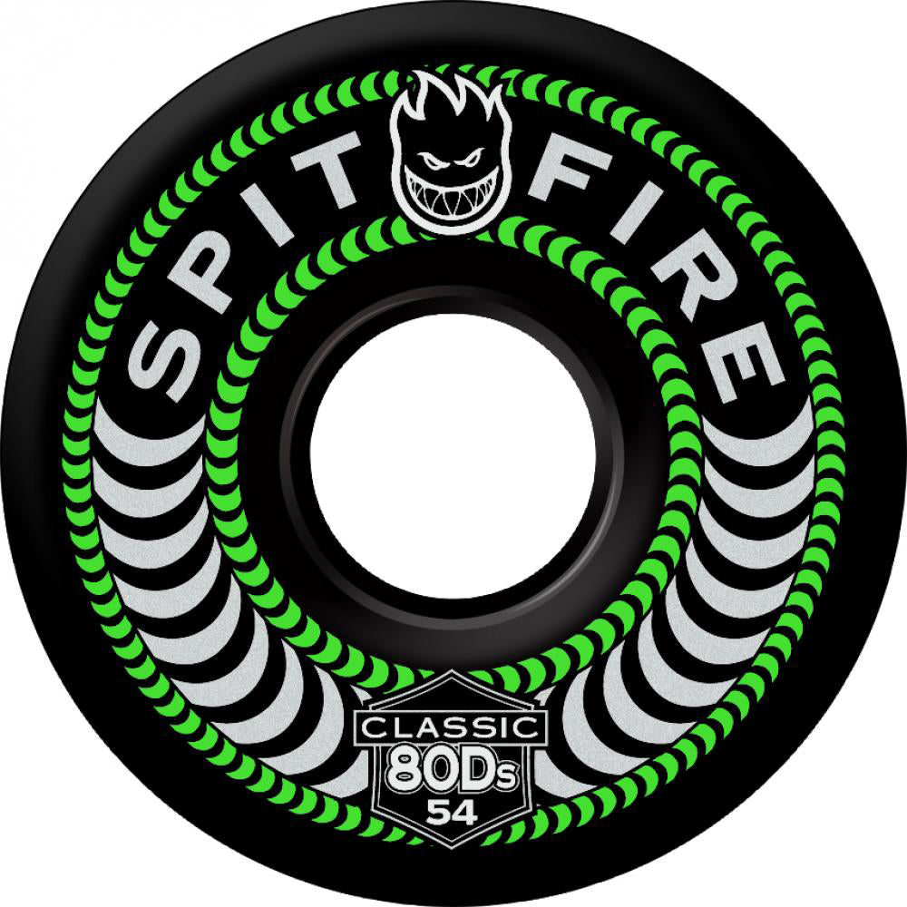 Spitfire Classic 80Ds black 56mm soft wheels