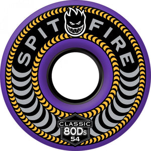 Spitfire Classic 80Ds purple 58mm soft wheels