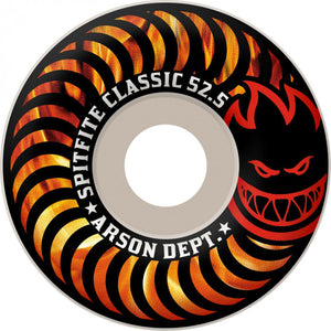 Spitfire White Classic Arson Dept 52.5mm Wheels