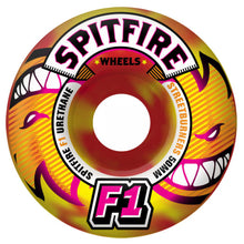 Load image into Gallery viewer, Spitfire F1 Streetburners Eternal red/yellow swirl 52mm wheels