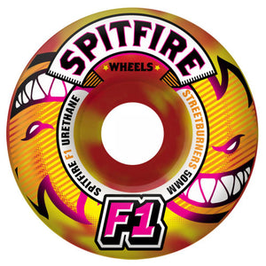 Spitfire F1 Streetburners Eternal red/yellow swirl 52mm wheels