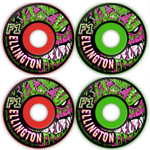 Load image into Gallery viewer, Spitfire F1 Streetburners Ellington Zombie red/green 52mm wheels