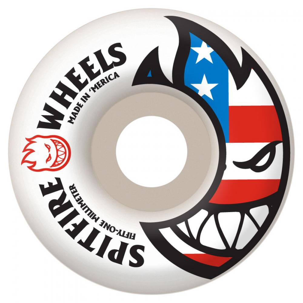 Spitfire Flaghead white 53mm wheels