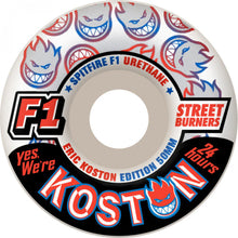 Load image into Gallery viewer, Spitfire Koston F1 Streetburners Yes We're Open 52mm wheels