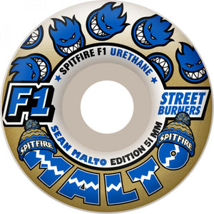 Spitfire Malto F1 Streetburners Below Zero 51mm wheels