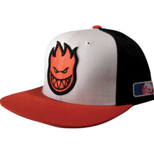 Load image into Gallery viewer, Spitfire Pastime white/black/orange snapback cap