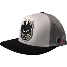 Load image into Gallery viewer, Spitfire Pastime white/grey/black snapback cap