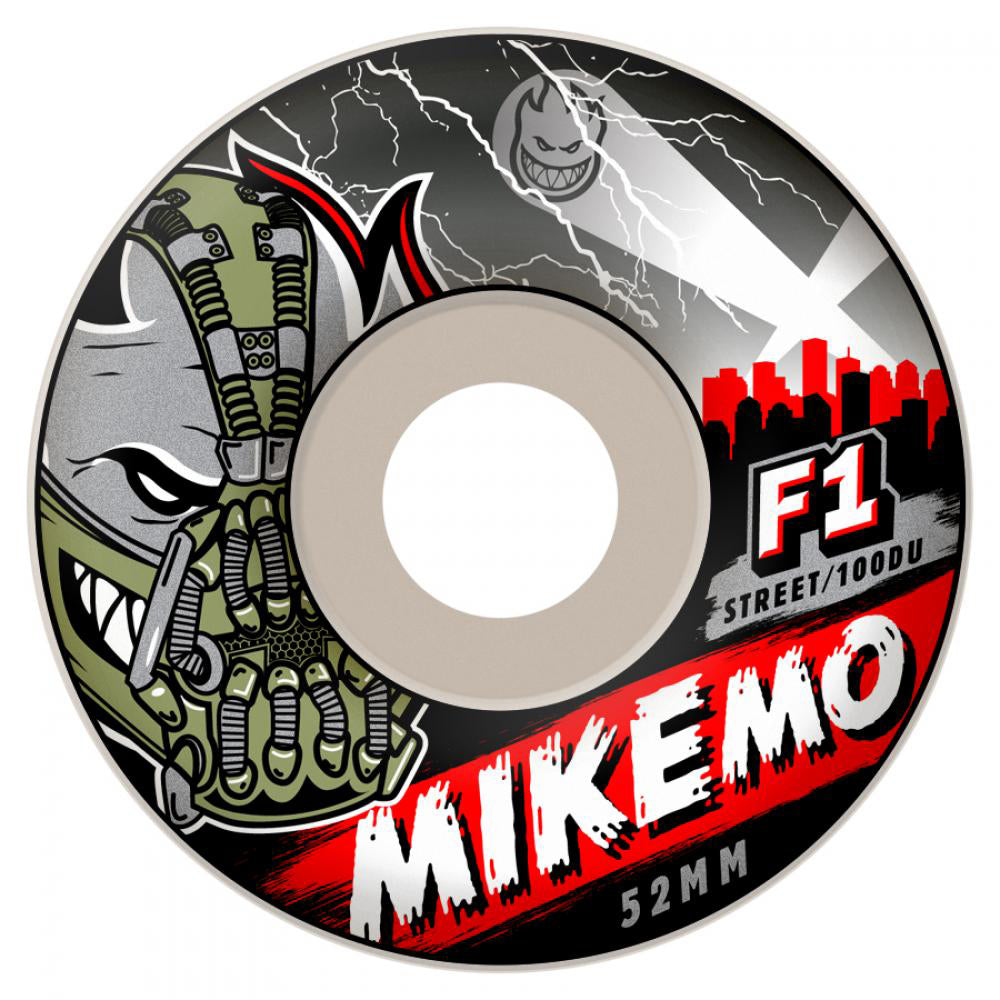 Spitfire F1 Streetburners Mike Mo Villain White 52mm wheels