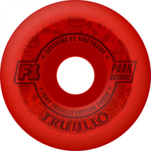 Load image into Gallery viewer, Spitfire Trujillo F1 Parkburners See Red 54mm wheels