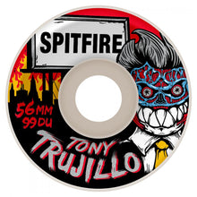 Load image into Gallery viewer, Spitfire Trujillo Formaldehyde white 52mm wheels