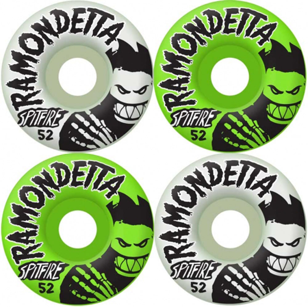 Spitfire Ramondetta Ghouls Glow 52mm wheels