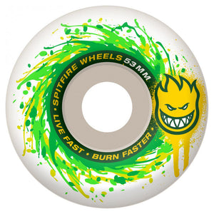 Spitfire Physcospin white 53mm wheels