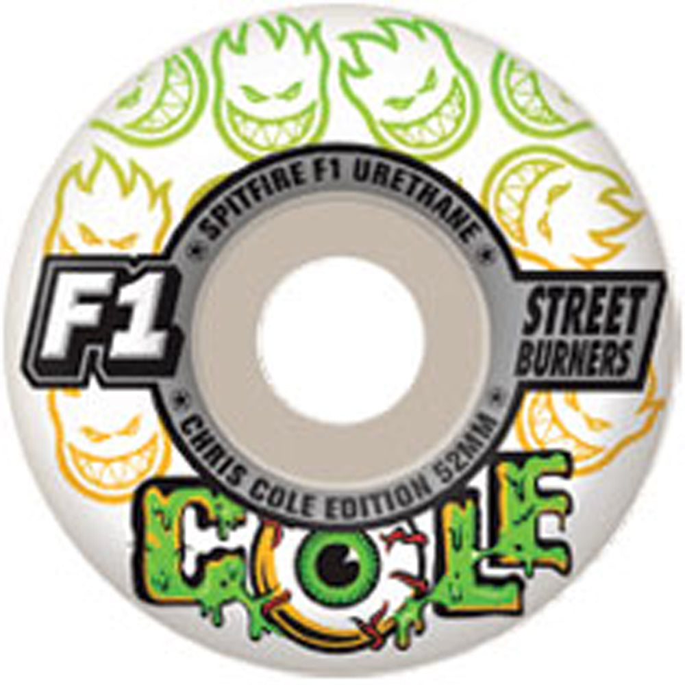 Spitfire Cole F1 Streetburners 52mm wheels