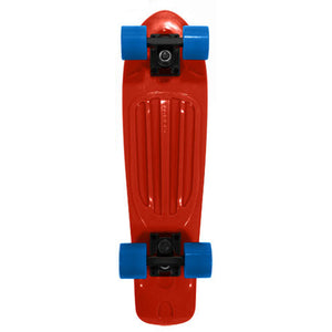 Stereo Vinyl Cruiser Remix red/blue complete skateboard