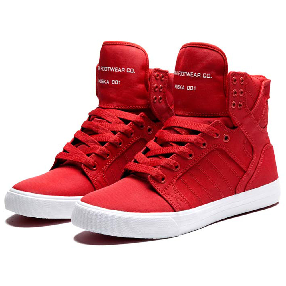 Supra Skytop red canvas TUF | Manchester's Premier ...