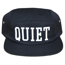 Load image into Gallery viewer, The Quiet Life Big Text black 5 Panel Cap