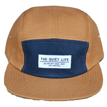 Load image into Gallery viewer, The Quiet Life Campfire caramel/navy 5 Panel Cap