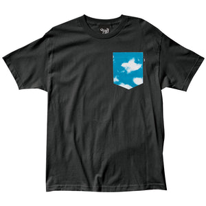 The Quiet Life Clouds black Pocket T shirt