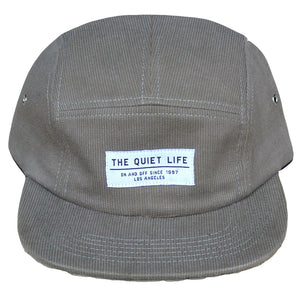 The Quiet Life Corduroy tan 5 Panel Cap