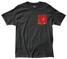 Load image into Gallery viewer, The Quiet Life Cosmos black pocket T shirt