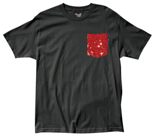 The Quiet Life Cosmos black pocket T shirt