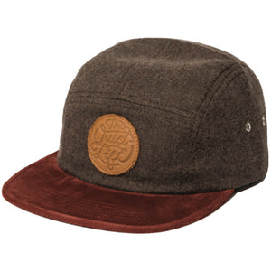 The Quiet Life Day Flannel 5 panel brown cap