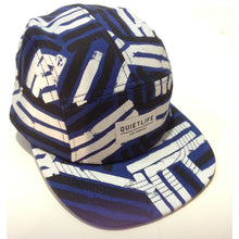 Load image into Gallery viewer, The Quiet Life Dual Lines blue/black/white 5 Panel Cap