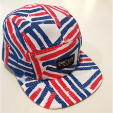 Load image into Gallery viewer, The Quiet Life Dual Lines white/red/blue 5 Panel Cap