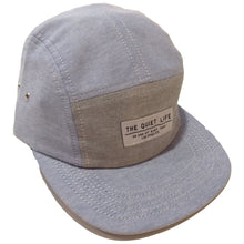 Load image into Gallery viewer, The Quiet Life Oxford blue/grey 5 Panel Cap