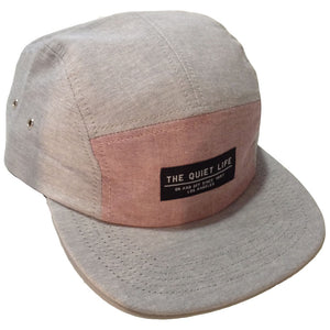 The Quiet Life Oxford grey/red 5 Panel Cap