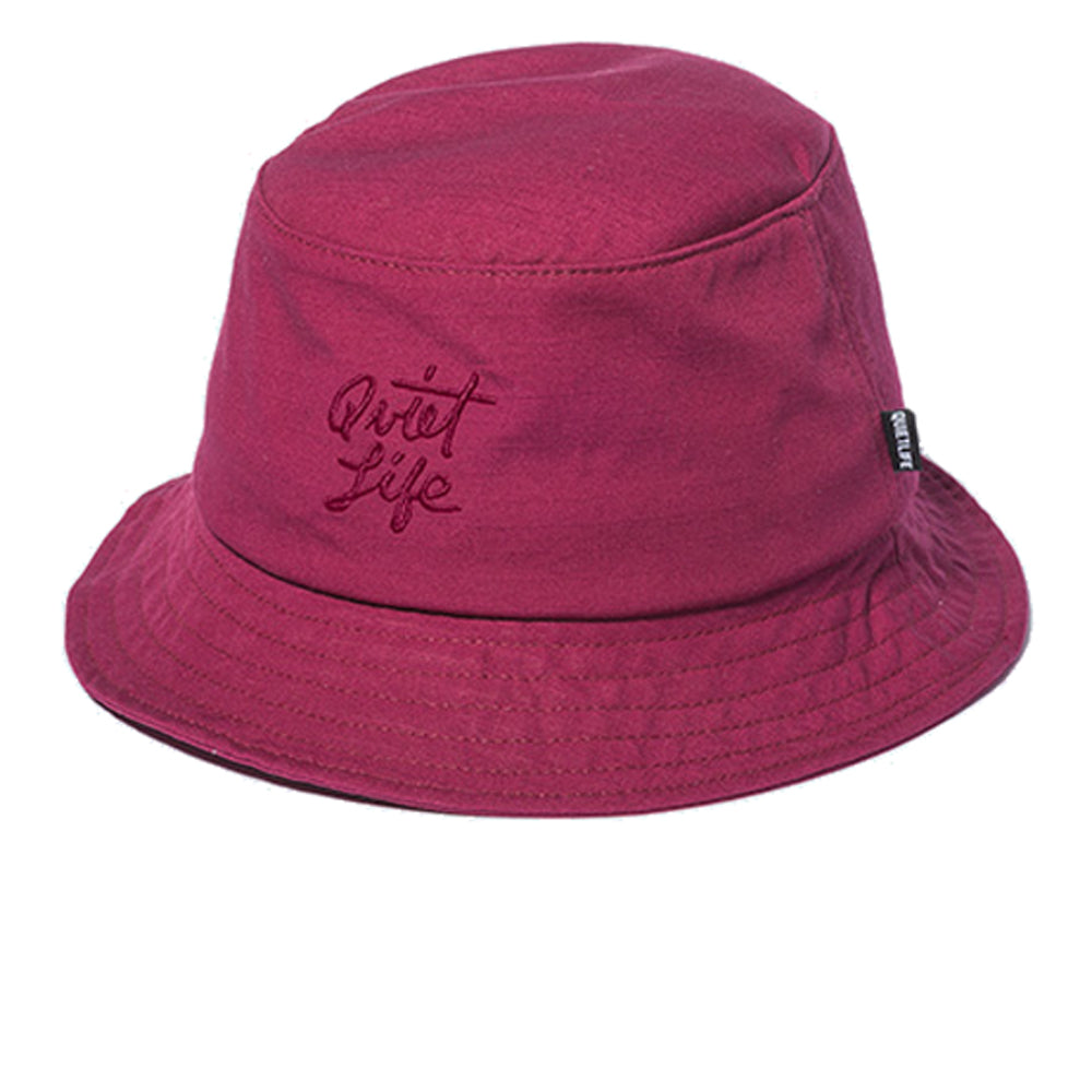 The Quiet Life Script burgundy bucket hat