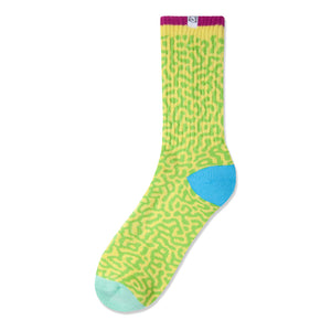The Quiet Life Sourgrass yellow socks