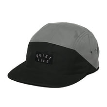 Load image into Gallery viewer, The Quiet Life Split black/grey 5 panel cap