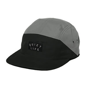 The Quiet Life Split black/grey 5 panel cap