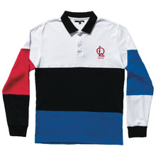 Load image into Gallery viewer, The Quiet Life sports polo white/royal/black long sleeve shirt