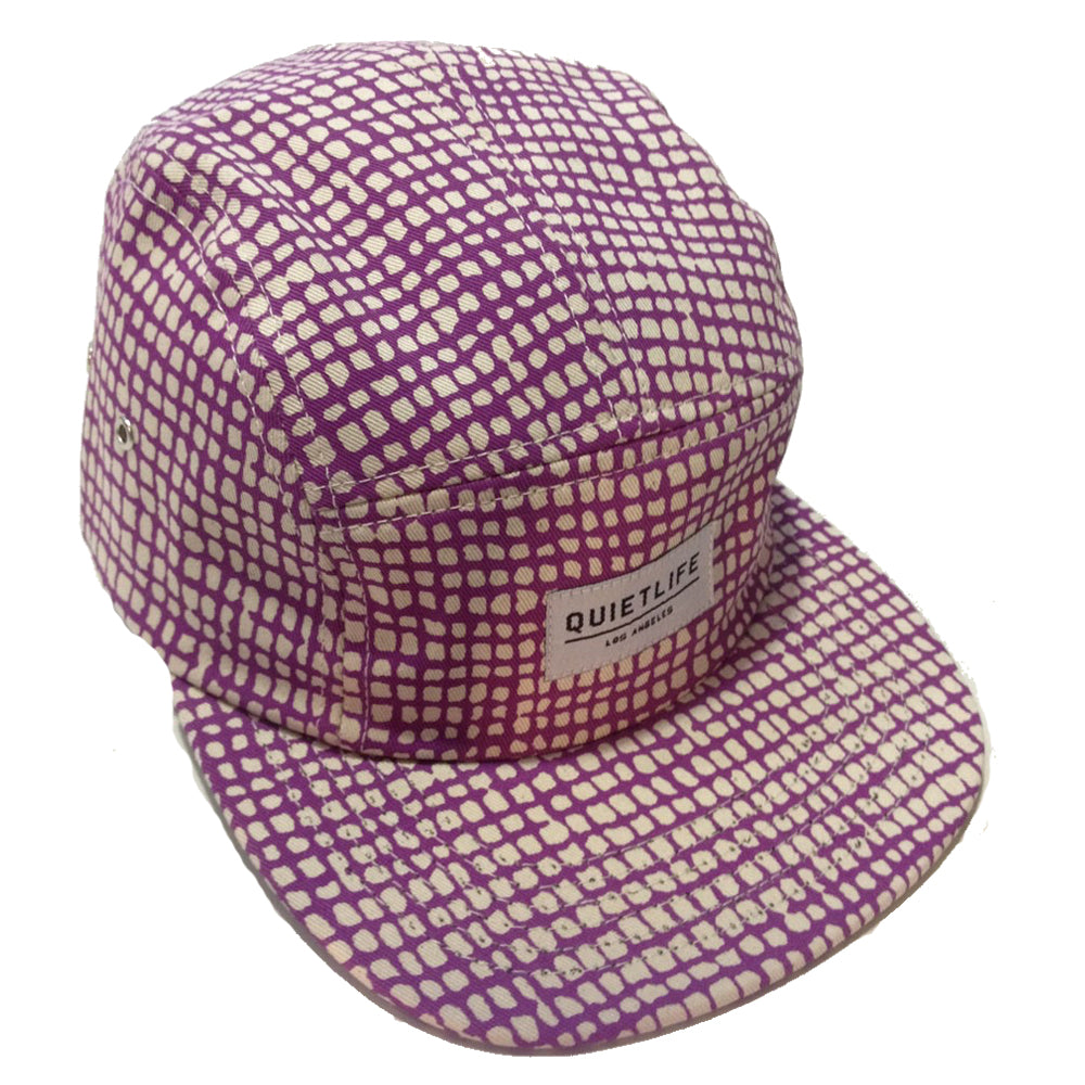 The Quiet Life Squares Purple 5 Panel Cap