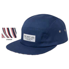 Load image into Gallery viewer, The Quiet Life Reversal navy 5 Panel Cap
