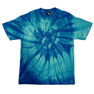 The Quiet Life Swirl Logo blue T shirt