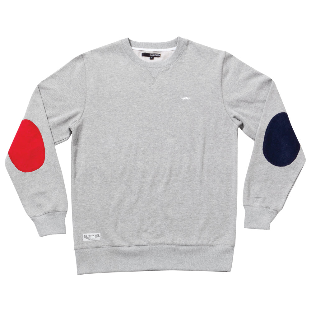 The Quiet Life Dual heather grey crew